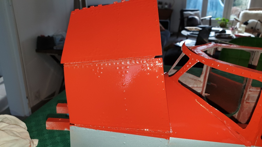 Painting of the fuselage completed