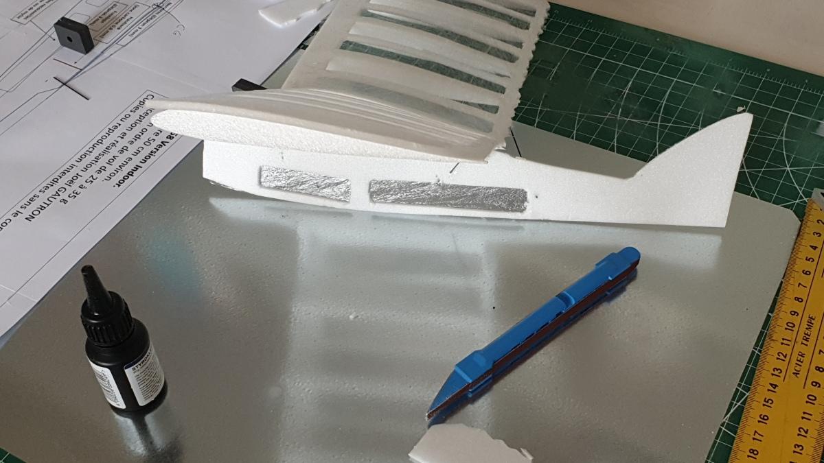 Le mini indoor potez 58, découpe et construction2